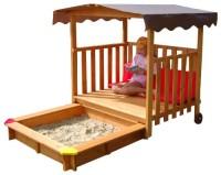Gaspo Spielhaus mit Sandkasten Test