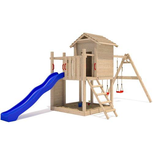 stelzenhaus mit rutsche sandkasten mit dach. Black Bedroom Furniture Sets. Home Design Ideas